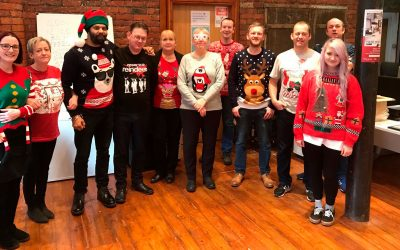 Festive jumpers raise some cheer for charity